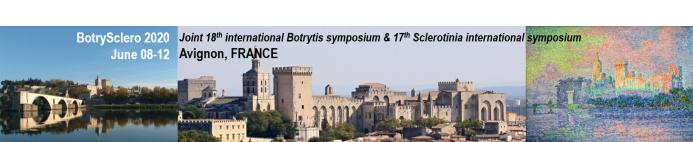 Welcome to BotrySclero2020 symposium  - AVIGNON - FRANCE - June 08-12, 2020