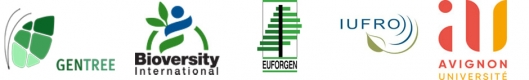 Logos GenTree Biodiversity Euforgen Iufro Université Avignon
