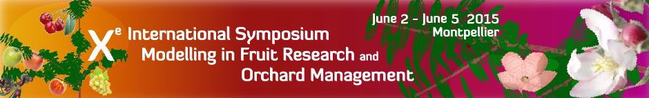 X international symposium on modelling fruit research and orchard management