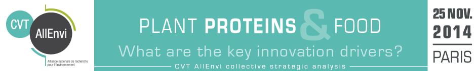 """CVT AllEnvi - Séminaire """"Protéines végétales et alimentation"""""""